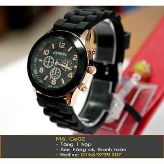 Đồng hồ nữ dây cao su hiệu Geneva - 7260 thumbnail