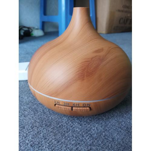 MÁY KHUẾCH TÁN TINH DẦU hình củ tỏi giả gỗ 500ml