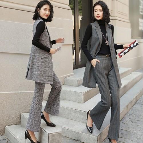B1899- Set áo ghi lê và quần ống loe nữ - giá 1.200k