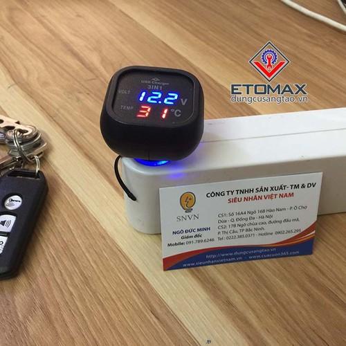 Tẩu sạc điện thoại đa năng trên ô tô 3 in 1 V2