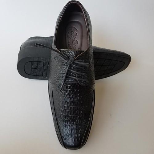 Giày Tây BIGBEN da bò thật Vân cá sấu cao cấp GT104