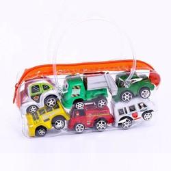 Túi đồ chơi ô tô 6 chiếc cho bé oto tự chạy o to mini