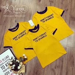 [Mua 2 Áo Tặng 1 Khẩu Trang Su Dày Kháng Khuẩn] Áo Cotton Thun Thái Dont Forget To Sparkle - Yuna Boutique
