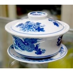 Bát sứ rồng phượng xanh-Dùng đựng cơm cúng,đựng trà cao 8cm