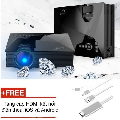 Máy chiếu công nghệ led unic uc46 tặng cáp hdmi kết nối điện thoại - best seller tony