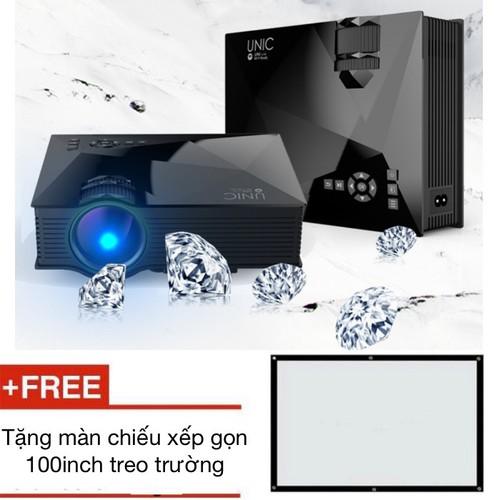 Máy chiếu kết nối không dây unic uc46 tặng màn chiếu 100inch - best seller tony