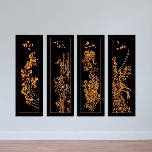 Bộ 4 tranh tứ quý Mai – Trúc – Cúc – Lan tuyệt đẹp W1418 - 4565764 , 13420952 , 15_13420952 , 1680000 , Bo-4-tranh-tu-quy-Mai-Truc-Cuc-Lan-tuyet-dep-W1418-15_13420952 , sendo.vn , Bộ 4 tranh tứ quý Mai – Trúc – Cúc – Lan tuyệt đẹp W1418