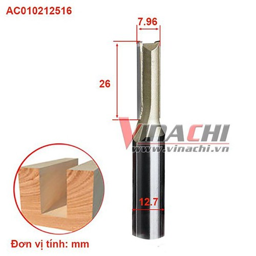 Mũi lấy nền ngắn AC0102 cốt 6.35-1x5
