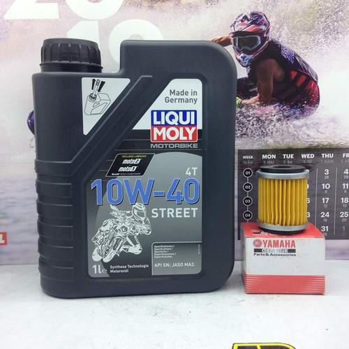 Nhớt Liqui Moly Motorbike Street 4T 10W40 và lọc nhớt Yamaha Exiter