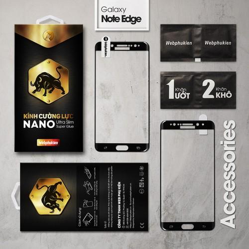 Kính cường lực Galaxy Note Edge Full Webphukien đen