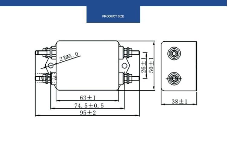 Bộ lọc nhiễu 1 pha 220V 40A lọc kép 3