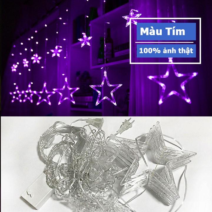Dây nháy led hình ngôi sao kiểu rèm cửa trang trí ngày tết Noel 3