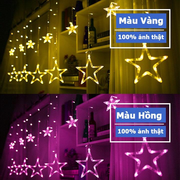 Dây nháy led hình ngôi sao kiểu rèm cửa trang trí ngày tết Noel 2