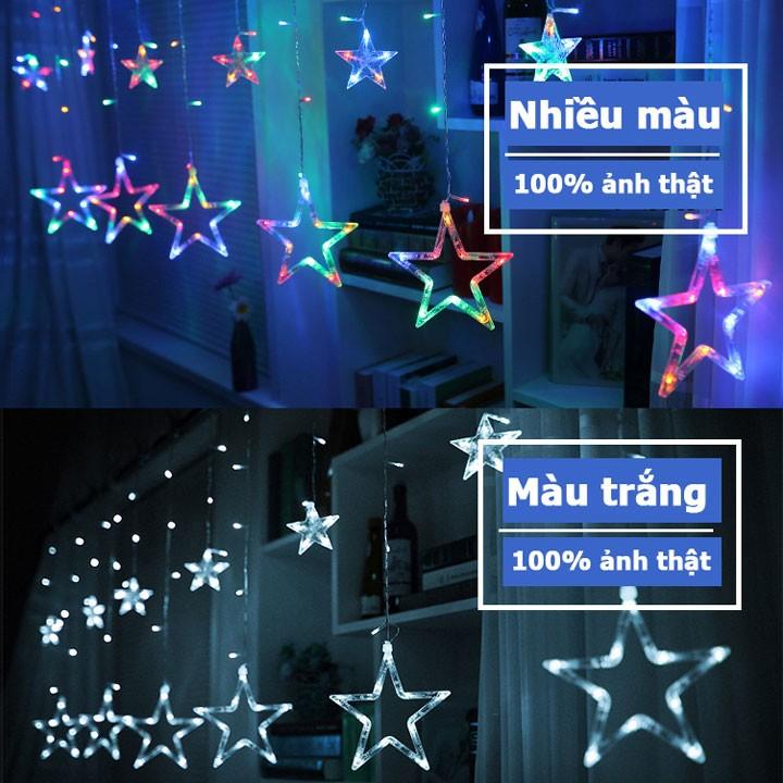 Dây nháy led hình ngôi sao kiểu rèm cửa trang trí ngày tết Noel 1