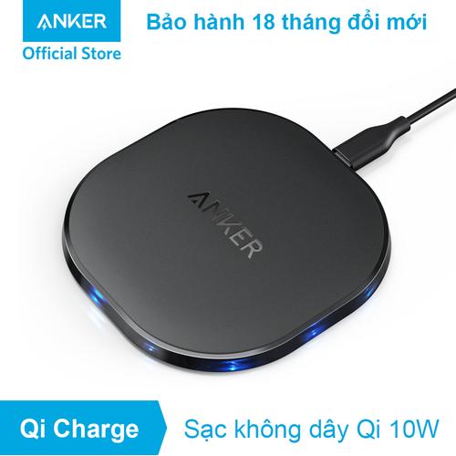Sạc không dây ANKER PowerPort Qi 10w - A2513 - Đen
