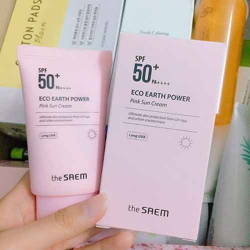 Kem chống nắng The saem Eco earth power Pink Sun Cream - 6730959 , 13420624 , 15_13420624 , 195000 , Kem-chong-nang-The-saem-Eco-earth-power-Pink-Sun-Cream-15_13420624 , sendo.vn , Kem chống nắng The saem Eco earth power Pink Sun Cream