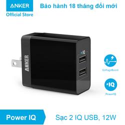 Sạc ANKER 2 cổng - PowerPort 2 Lite 12w -...