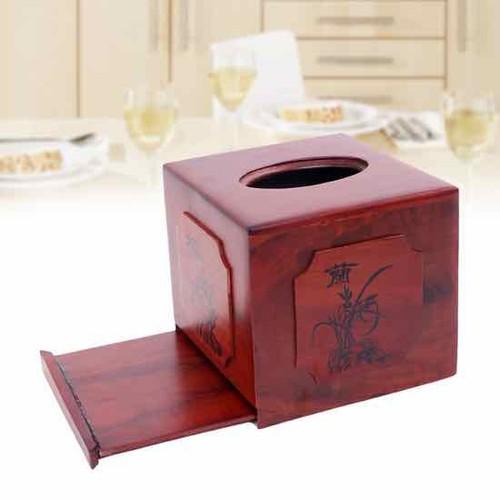 HỘP ĐỰNG GIẤY ĂN BẰNG GỖ -hộp đựng giấy vuông