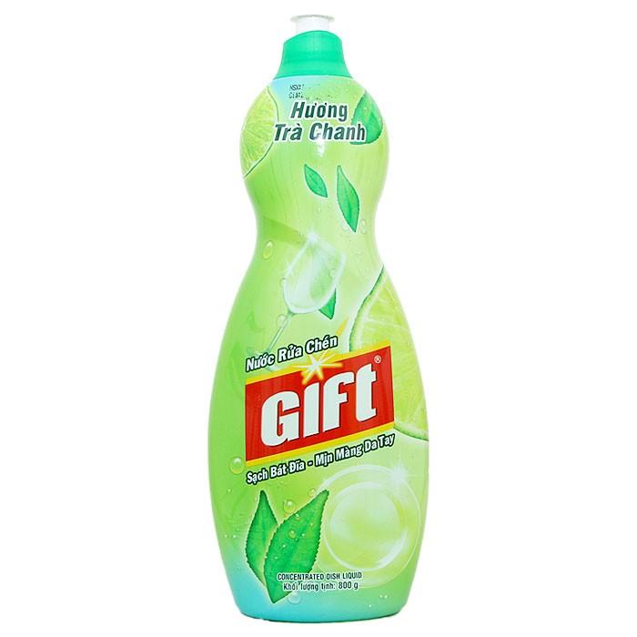 Nước rửa chén Gift hương Chanh chai 800g