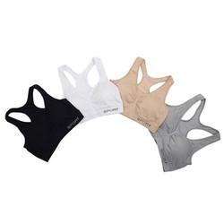 áo ngực thể thao chất liệu thun mềm có độ co giãn tốt không bị co rút khi tập áo có lớp mút lây ra gắn vào dễ dàng
