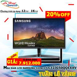 Màn hình máy tính - LCD Samsung LC 32JG50 QQEXXV 32inch WQHD 4ms 144Hz VA - Hàng Chính Hãng - LC32JG50QQEXXV
