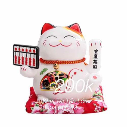 Mèo chiêu tài cỡ nhỏ tặng xu hút tài Khang Hy tphcm