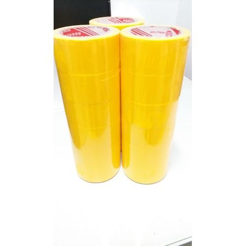 Combo 6 cuộn Băng keo màu vàng 48MM -80Y