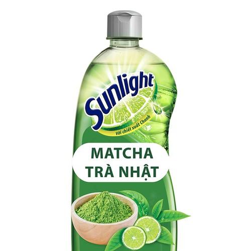 Nước Rửa Chén Khử Mùi Tanh Sunlight Matcha Trà Nhật chai 750g