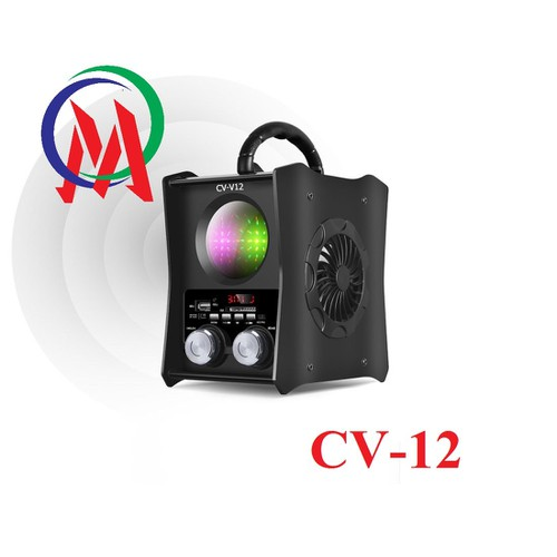 Loa VSP Bluetooth-FM-USB-Thẻ nhớ CV-V12 LED