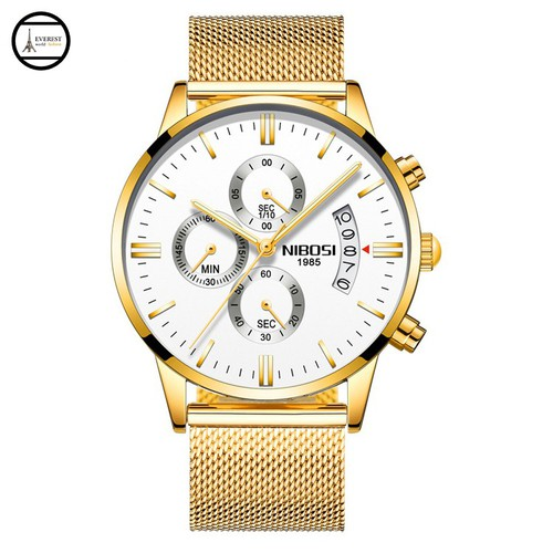 Đồng hồ nam NIBOSI 2309 dây thép lưới vàng mặt trắng, hàng chính hãng, fullbox - 6750908 , 13444638 , 15_13444638 , 550000 , Dong-ho-nam-NIBOSI-2309-day-thep-luoi-vang-mat-trang-hang-chinh-hang-fullbox-15_13444638 , sendo.vn , Đồng hồ nam NIBOSI 2309 dây thép lưới vàng mặt trắng, hàng chính hãng, fullbox