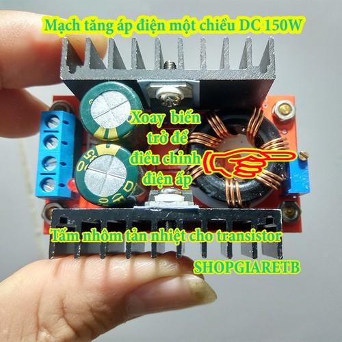Mạch tăng áp DC-DC 150W -Mạch tăng áp boost DC-DC 150W - 4569010 , 13448520 , 15_13448520 , 45000 , Mach-tang-ap-DC-DC-150W-Mach-tang-ap-boost-DC-DC-150W-15_13448520 , sendo.vn , Mạch tăng áp DC-DC 150W -Mạch tăng áp boost DC-DC 150W