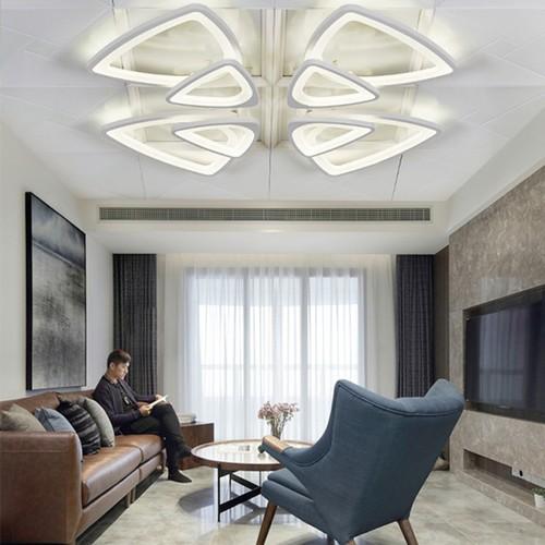 Đèn trần - đèn phòng khách - đèn trang trí nội thất cao cấp hoa mai 8 cánh