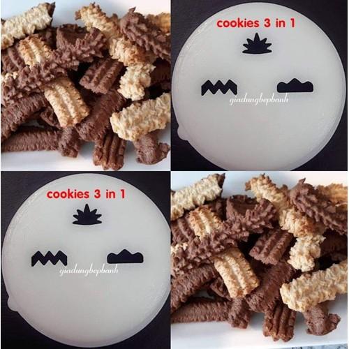 khuôn cho máy làm mì Philip - cookies 3 in 1