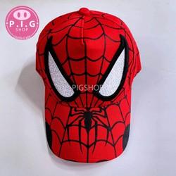 Nón kết nón lưỡi trai thêu Spider man cho bé trai 2-8 tuổi