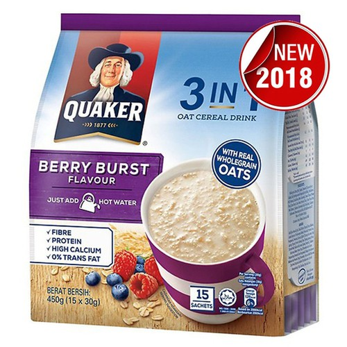 Thức Uống Yến Mạch Quaker 3in1 Vị Berry Burst 450g - 6771537 , 13470574 , 15_13470574 , 260000 , Thuc-Uong-Yen-Mach-Quaker-3in1-Vi-Berry-Burst-450g-15_13470574 , sendo.vn , Thức Uống Yến Mạch Quaker 3in1 Vị Berry Burst 450g