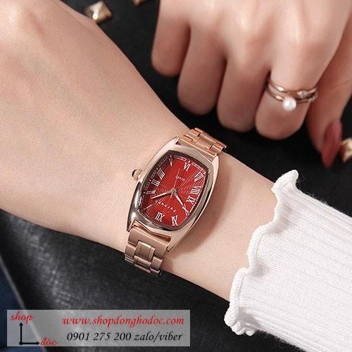 Đồng hồ nữ dây kim loại vàng mặt chữ nhật đỏ quyến rũ Fernweh ĐHĐ9301- CHÍNH HÃNG - FULLBOX + TẶNG LẮC TAY + 2 PIN NHẬT - 6762028 , 13459380 , 15_13459380 , 999000 , Dong-ho-nu-day-kim-loai-vang-mat-chu-nhat-do-quyen-ru-Fernweh-DHD9301-CHINH-HANG-FULLBOX-TANG-LAC-TAY-2-PIN-NHAT-15_13459380 , sendo.vn , Đồng hồ nữ dây kim loại vàng mặt chữ nhật đỏ quyến rũ Fernweh ĐHĐ930