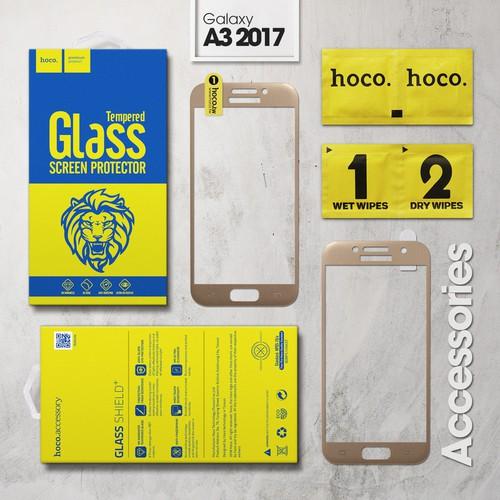Cường lực Galaxy A3 2017 Full Hoco vàng