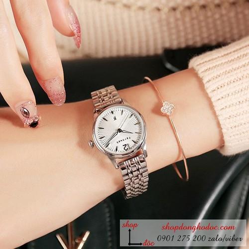 Đồng hồ nữ dây kim loại mặt tròn trắng sang chảnh Fernweh ĐHĐ7002 - CHÍNH HÃNG - FULLBOX + TẶNG LẮC TAY + 2 PIN NHẬT - 6763359 , 13460737 , 15_13460737 , 999000 , Dong-ho-nu-day-kim-loai-mat-tron-trang-sang-chanh-Fernweh-DHD7002-CHINH-HANG-FULLBOX-TANG-LAC-TAY-2-PIN-NHAT-15_13460737 , sendo.vn , Đồng hồ nữ dây kim loại mặt tròn trắng sang chảnh Fernweh ĐHĐ7002 - CHÍN