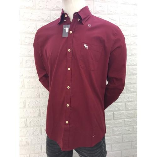 áo sơ mi dài tay trơn màu đỏ cao cấp