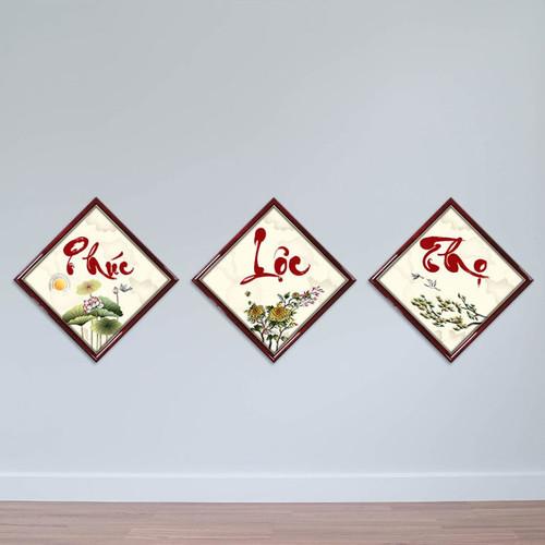 Bộ 3 tranh thư pháp chữ Phúc Lộc Thọ W1433 - 6762783 , 13460040 , 15_13460040 , 720000 , Bo-3-tranh-thu-phap-chu-Phuc-Loc-Tho-W1433-15_13460040 , sendo.vn , Bộ 3 tranh thư pháp chữ Phúc Lộc Thọ W1433