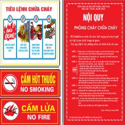 Bộ nội quy tiêu lệnh PCCC, Cấm lửa, Cấm thuốc