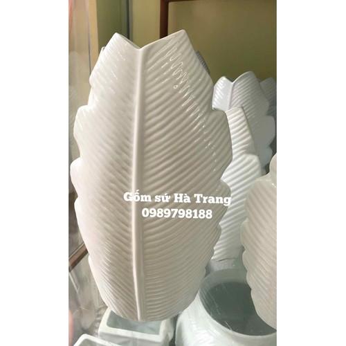 Lọ hoa 3 D gốm sứ Bát Tràng cao cấp dáng lá chuối size 3 cao 22cm - 6771191 , 13470309 , 15_13470309 , 180000 , Lo-hoa-3-D-gom-su-Bat-Trang-cao-cap-dang-la-chuoi-size-3-cao-22cm-15_13470309 , sendo.vn , Lọ hoa 3 D gốm sứ Bát Tràng cao cấp dáng lá chuối size 3 cao 22cm