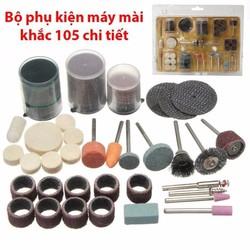 Bộ phu kiện mài khắc đa năng 105 chi tiết cho máy khoan mài mini