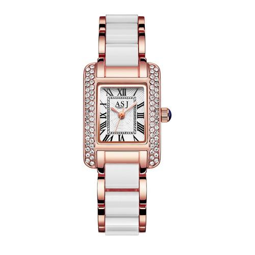 Đồng hồ nữ ASJ Japan Movt A010 viền đá + Tặng kèm pin và hộp cao cấp
