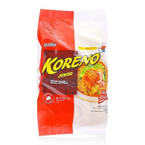 Mì Kim Chi Koreno Jumbo bịch 1kg gồm 10 gói x 100g