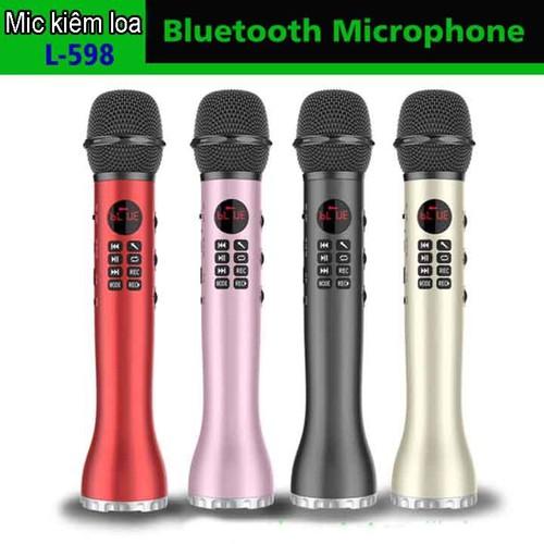 Microphone karaoke kèm loa L-598