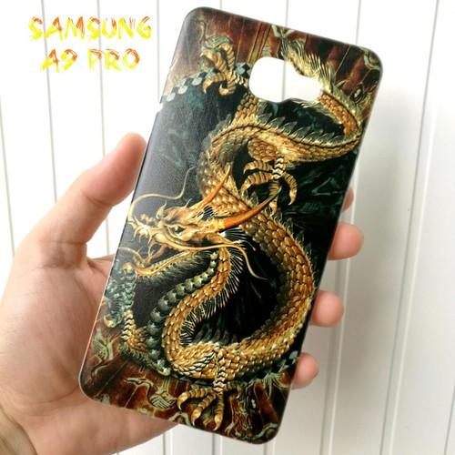 Ốp Lưng Samsung A9 Pro Rồng Vàng Nền Đen 3D