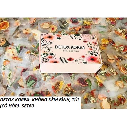 DETOX KOREA Trà hoa quả sấy khô – PKCBMB – SET 60 gói kèm hộp