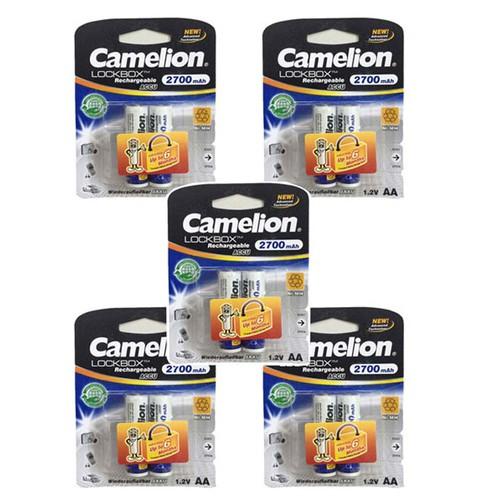 [ BẢO HÀNH 6 THÁNG BAO ĐỔI TRẢ] COMBO 5 vỉ pin sạc AA camelion 2700mah VỈ 2 VIÊN.