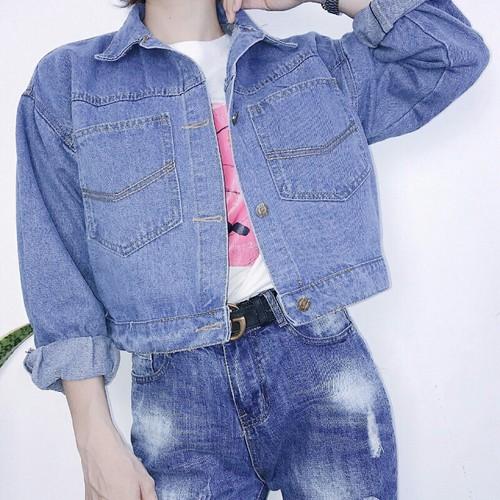 Áo khoác jean nữ bánh bèo